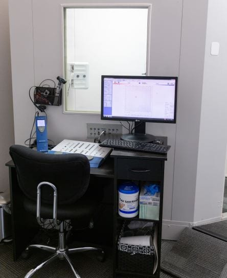 hearing assessment booth
